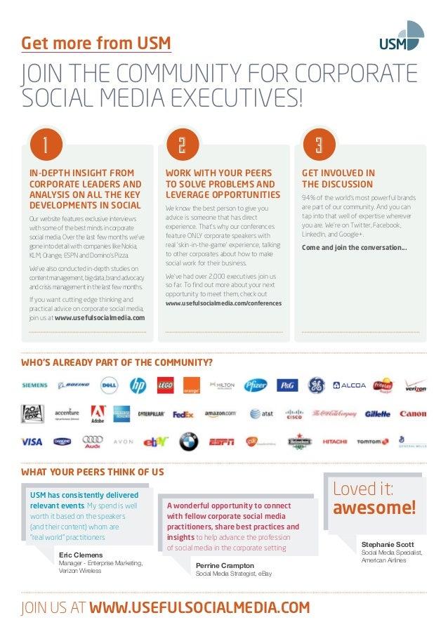 The Fourth AnnualCorporate Social Media SummitNew YorkSuperior marketing response, sharper corporatedecision-making, enhan...