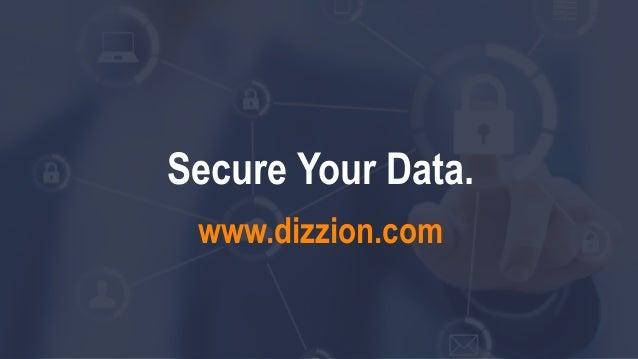 Secure Your Data. www.dizzion.com