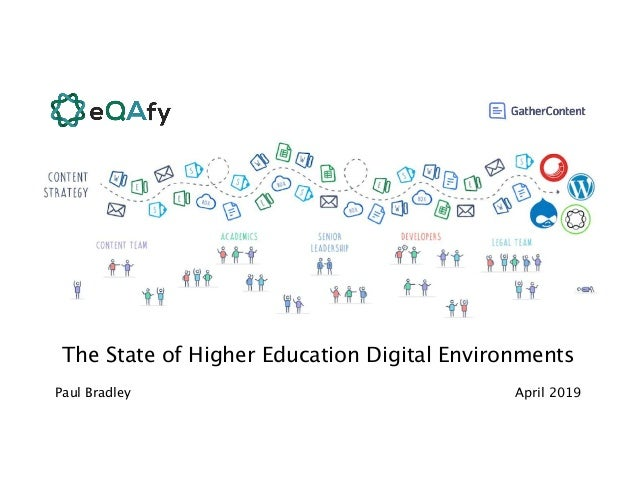 The State of Higher Education Digital Environments April 2019Paul Bradley