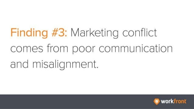 Finding #3: Marketing conflict comes from poor communication and misalignment.