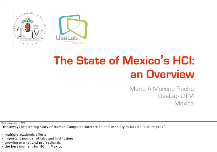 The State of Mexico's HCI:                                               an Overview                                      ...