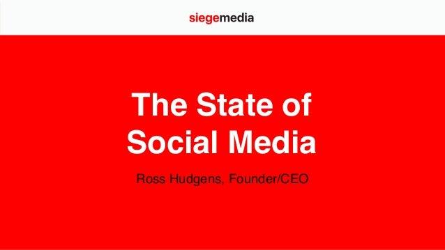The State of Social Media Ross Hudgens, Founder/CEO