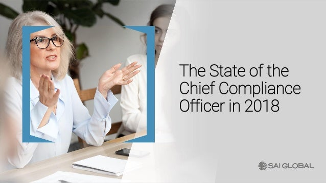 The State of the Chief Compliance Officer in 2018