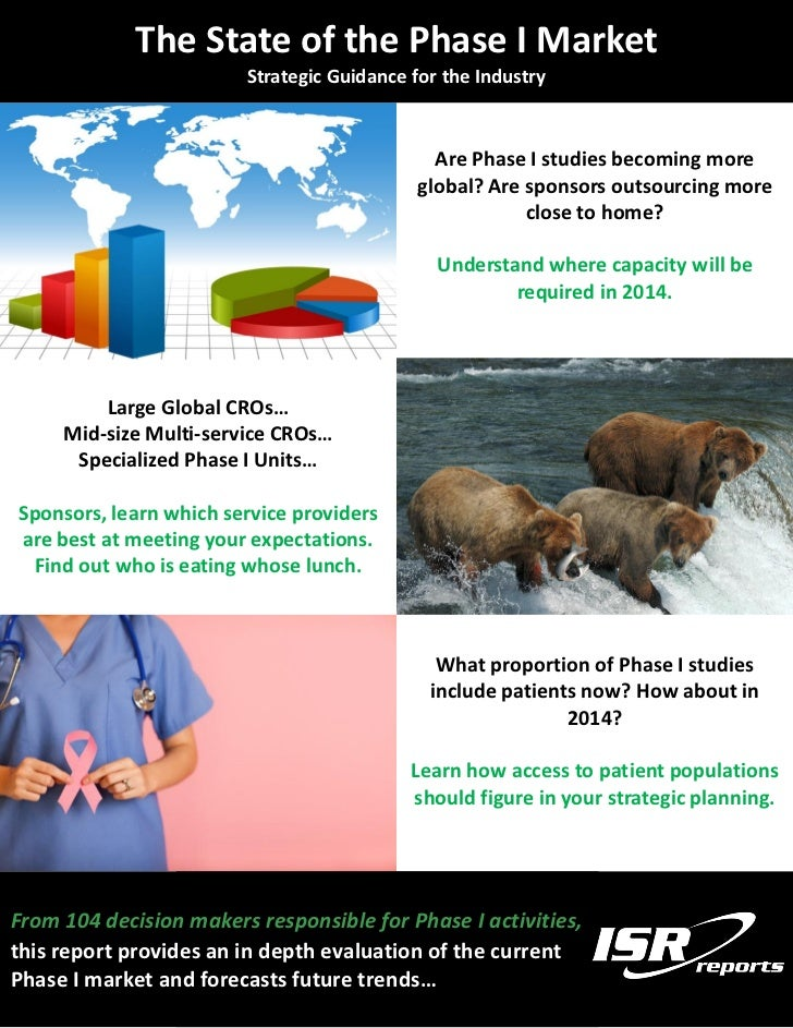The State of the Phase I Market                          Strategic Guidance for the Industry                              ...
