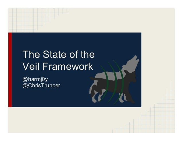 The State of the Veil Framework @harmj0y @ChrisTruncer