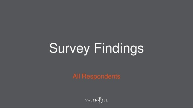 Survey Findings All Respondents
