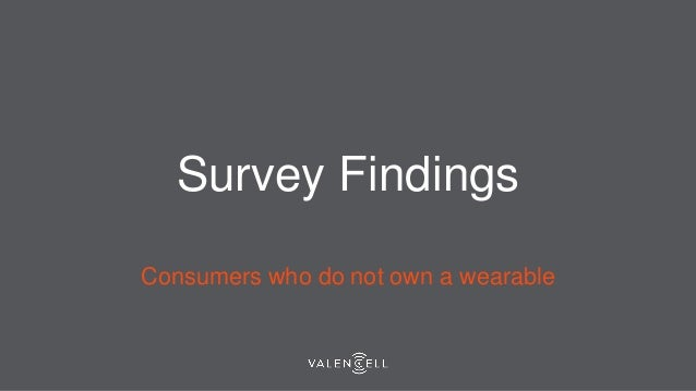 Survey Findings Consumers who do not own a wearable