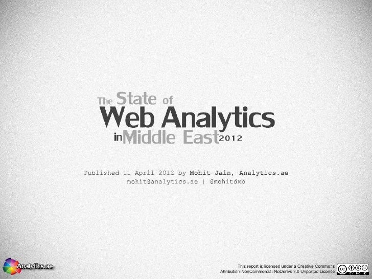 The State of Web Analytics in Middle East Survey 2012 Results   © Mohit Jain | Analytics.ae | @mohitdxb