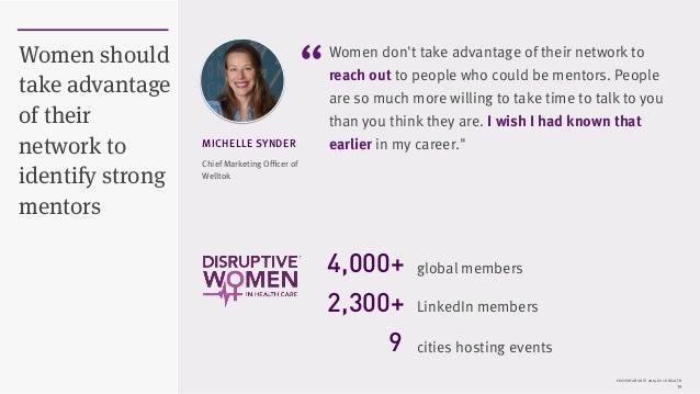 PRESENTATION © 2015 ROCK HEALTH 19 Women should take advantage of their network to identify strong mentors Women don't tak...