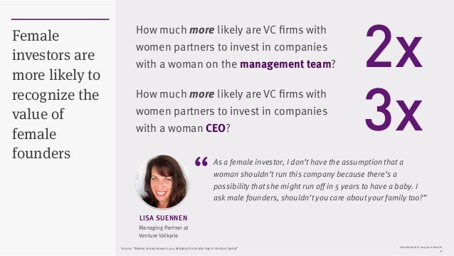 PRESENTATION © 2015 ROCK HEALTH 9 Female investors are more likely to recognize the value of female founders As a female i...