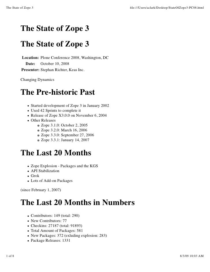The State of Zope 3                                              file:///Users/aclark/Desktop/StateOfZope3-PC08.html       ...