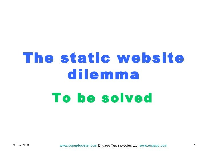 The static website   dilemma To be solved