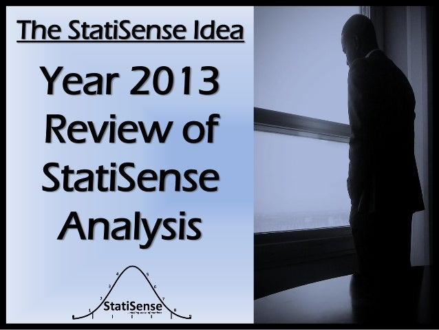 The StatiSense Idea  Year 2013 Review of StatiSense Analysis