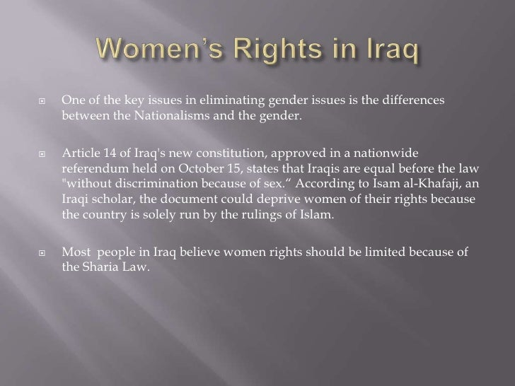 gender roles in iraq