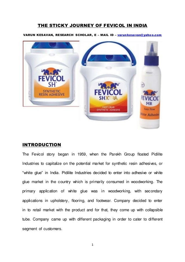 The Sticky Journey Of Fevicol In India