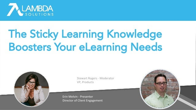The Sticky Learning Knowledge Boosters Your eLearning Needs