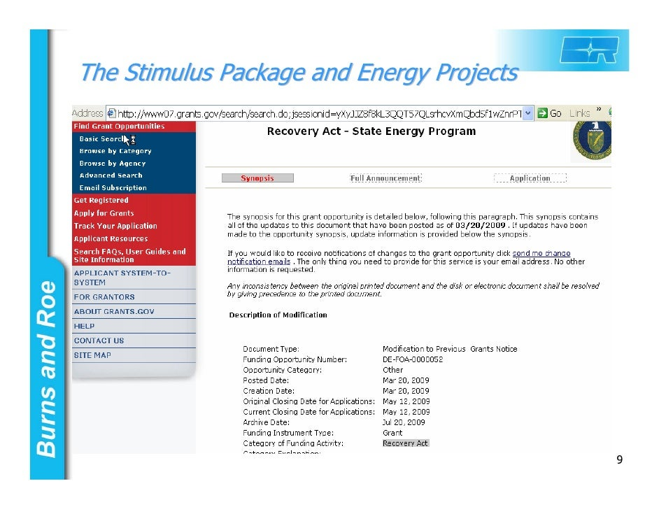 Stimulus Package 2009 - What's In It For YOU