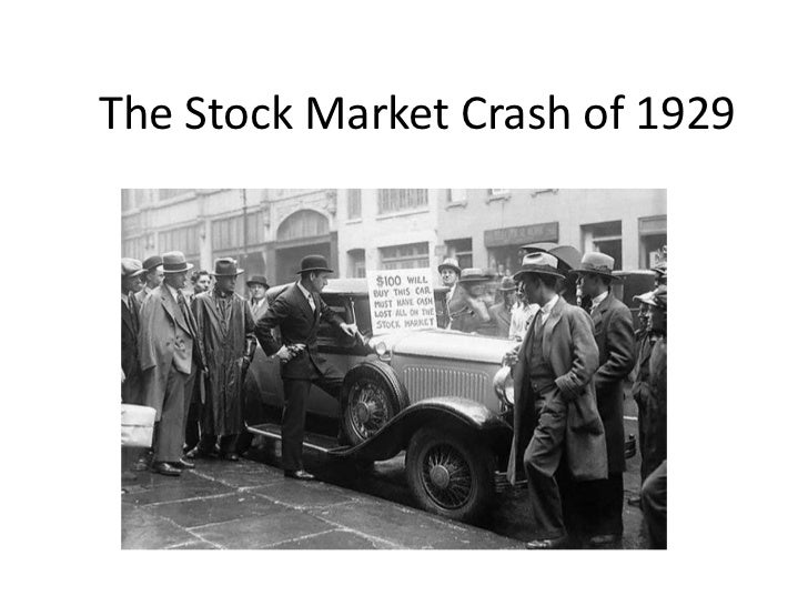 the stock market crash of 1929 1929 - the stock market crash ushered in the great depression what made the stock market crash here's a brief summary capital is the tools needed to produce things of value out of raw.