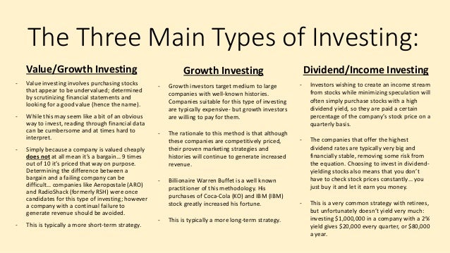 types of investment strategies pdf