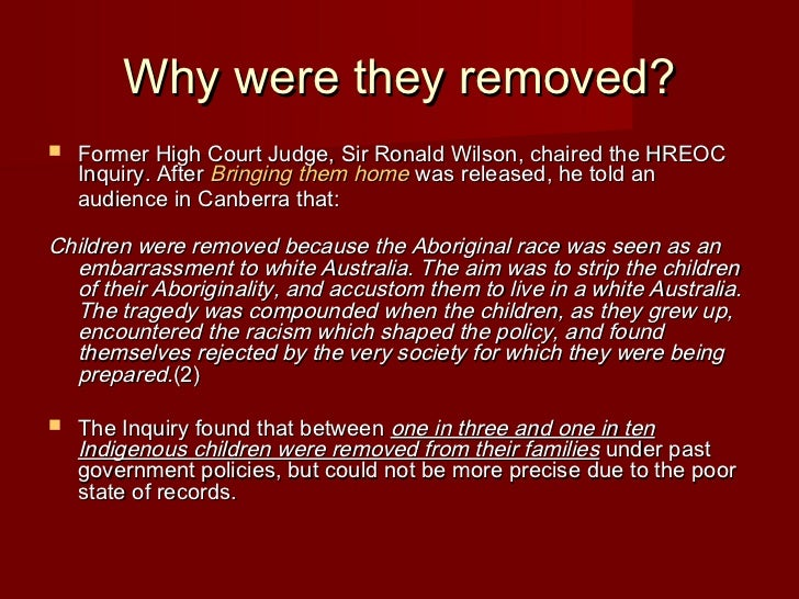 the stolen generations Free essay: the stolen generation has had a great effect on aboriginal rights and freedoms as aboriginal and torres strait islanders didn't even have the.