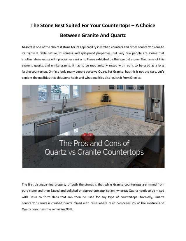 The stone best suited for your countertops – a choice ... on