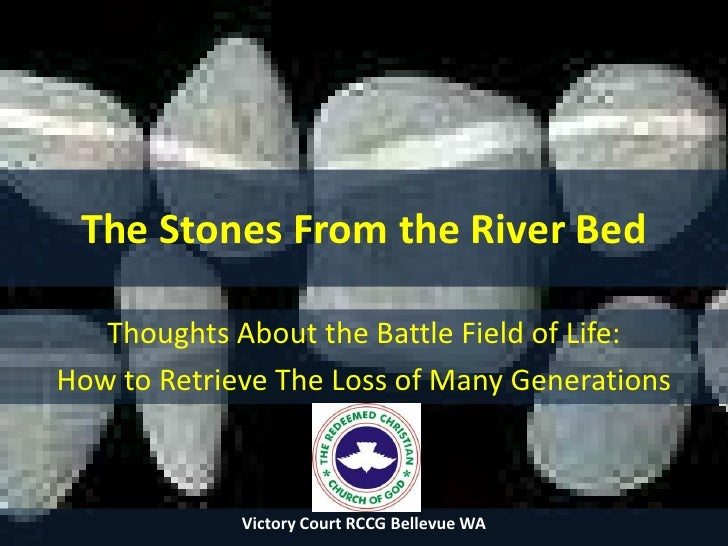 The Stones From the River Bed<br />Thoughts About the Battle Field of Life: <br />How to Retrieve The Loss of Many Generat...