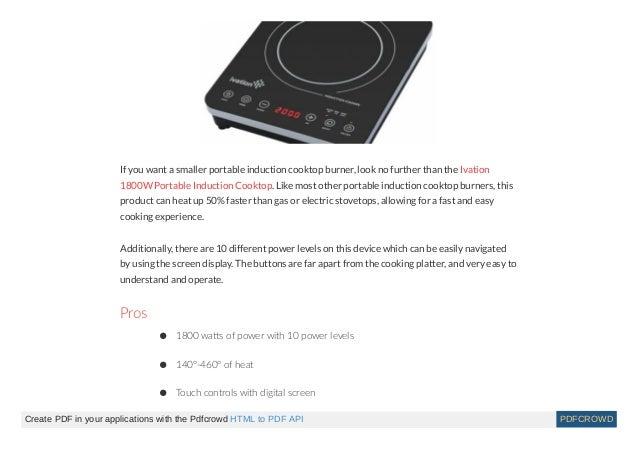 best induction cooktops 2018. Black Bedroom Furniture Sets. Home Design Ideas