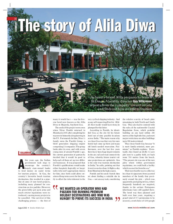 16          The story of Alila DiwaCOMMENT                                                                                ...