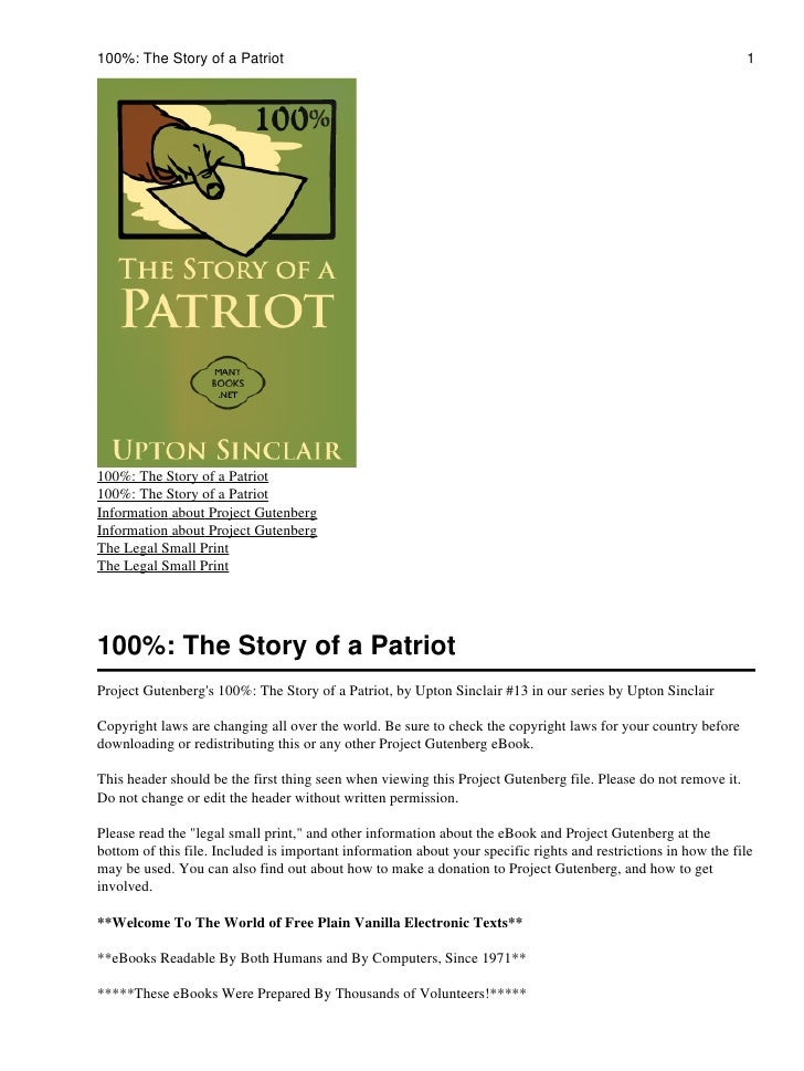 100%: The Story of a Patriot                                                                                    1100%: The...