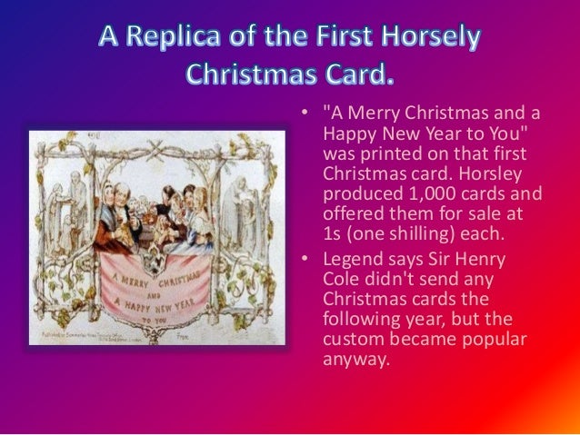 the story of christmas card