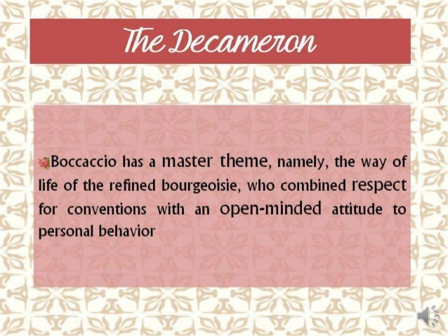 decameron boccaccio analysis