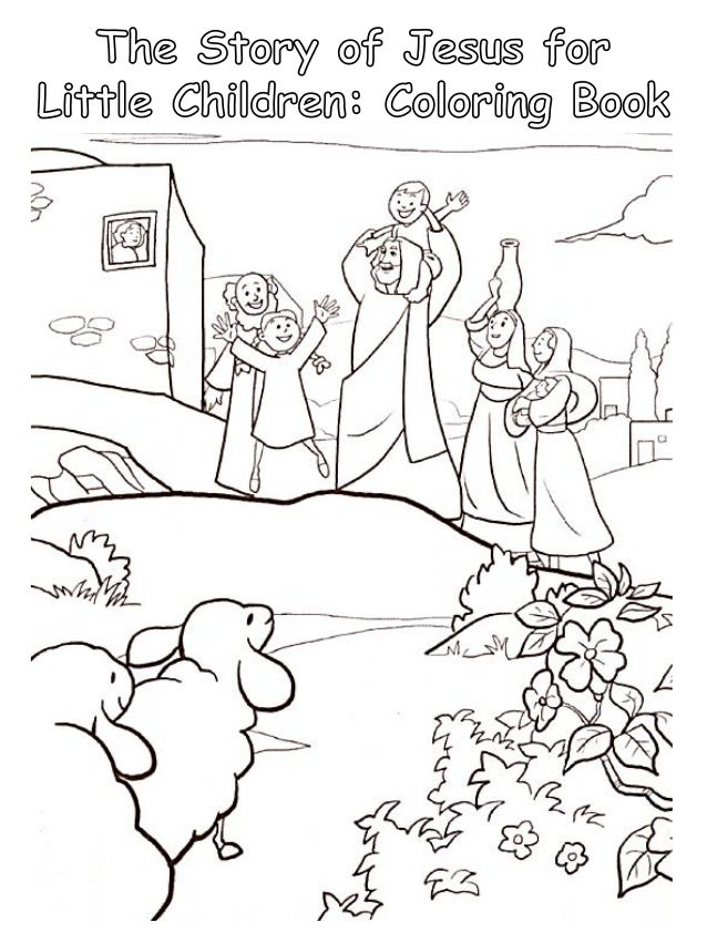 The Story of Jesus for Little Children: Coloring Book