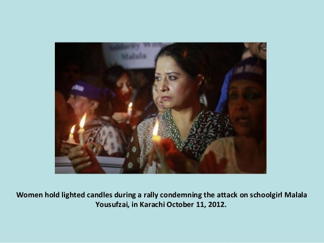 Women hold lighted candles during a rally condemning the attack on schoolgirl Malala Yousufzai, in Karachi October 11, 201...