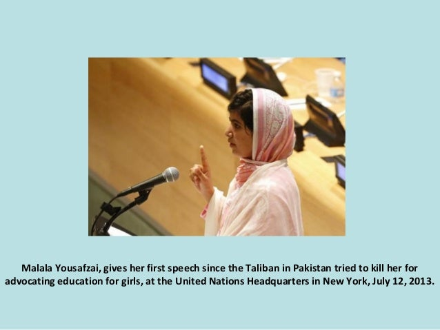 Malala Yousafzai, gives her first speech since the Taliban in Pakistan tried to kill her for advocating education for girl...
