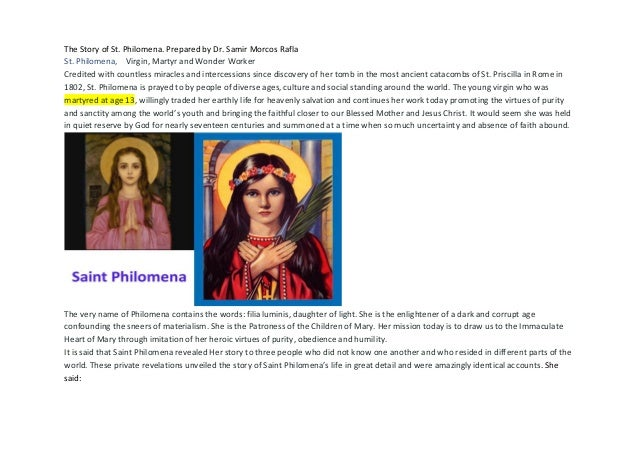saint philomena biography