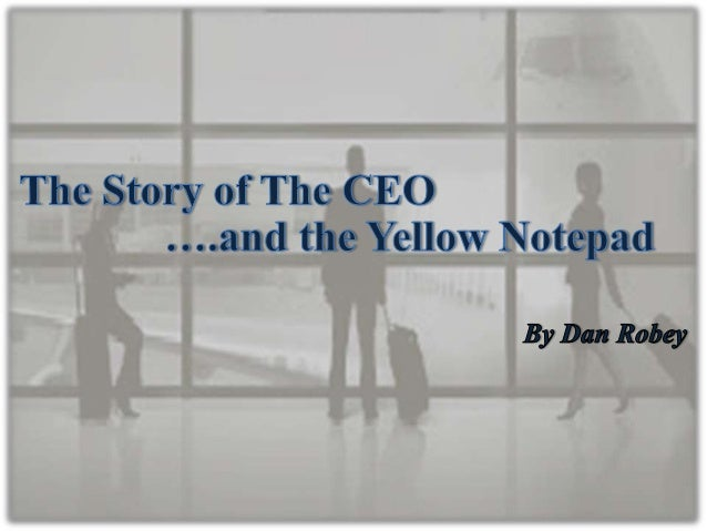 How could a simple yellow notepad have such power ?