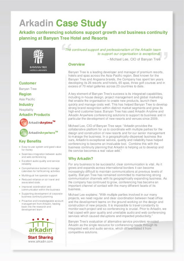 case study analysis the banyan tree hotels and resorts After completing this case study banyan tree hotels and resorts this case presents information on the environmental initiatives implemented at their.