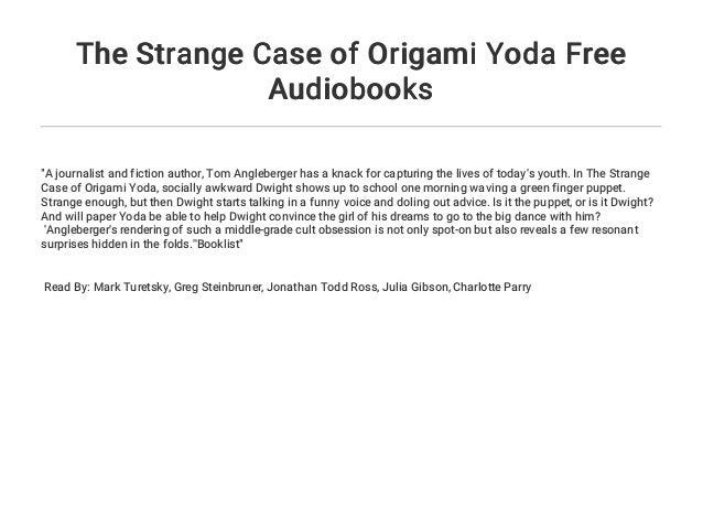 "Book Talk: ""The Strange Case of Origami Yoda"" – Katy Tessman | 479x638"