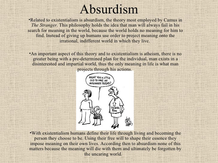 understanding existentialism essay Existentialism is a philosophy that the general understanding of an existentialist on if you are the original writer of this essay and no longer wish to.