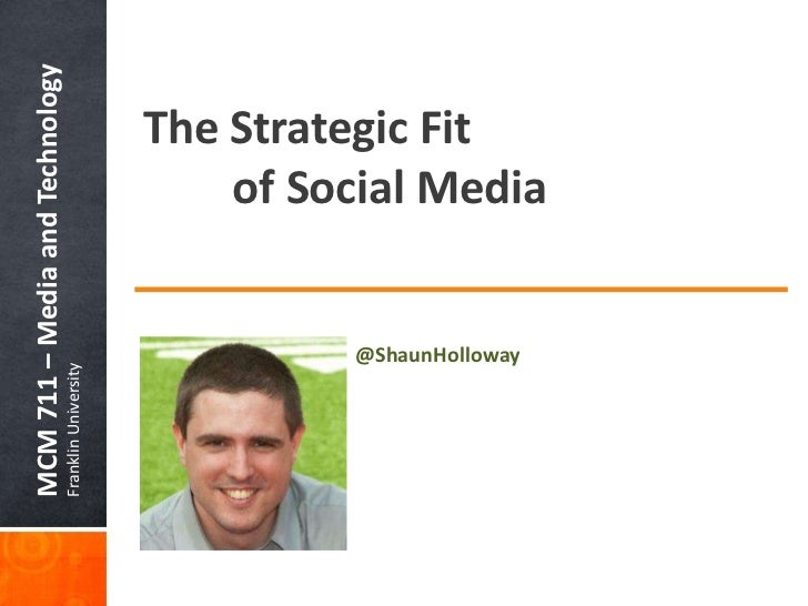 MCM 711 – Media and TechnologyFranklin University                                   The Strategic Fit                  @Sh...
