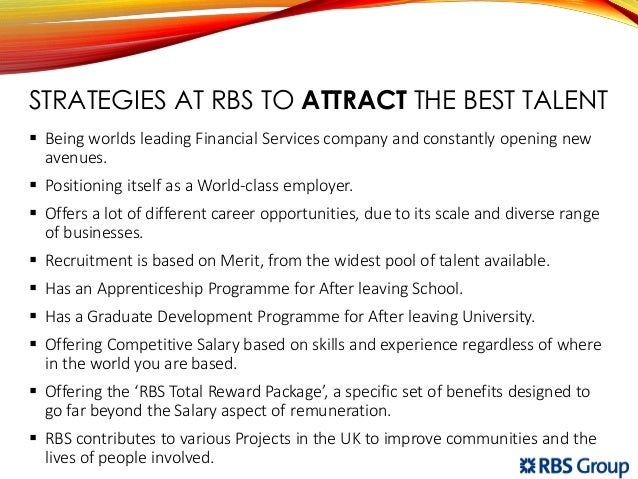 The Strategies Established By RBS To Attract And Retain