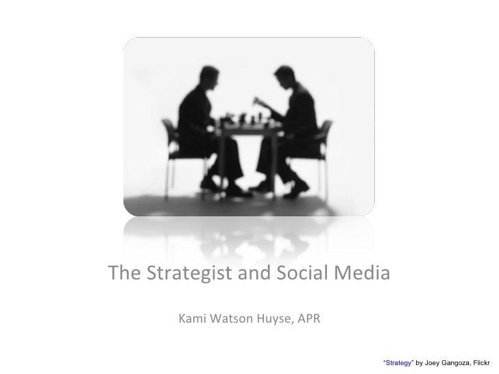 "The Strategist and Social Media Kami Watson Huyse, APR "" Strategy "" by Joey Gangoza, Flickr"