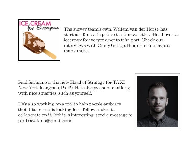 The survey team's own, Willem van der Horst, has started a fantastic podcast and newsletter. Head over to icecreamforevery...