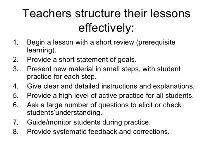 The structure of a language lesson Slide 2