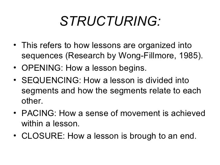 The structure of a language lesson Slide 3