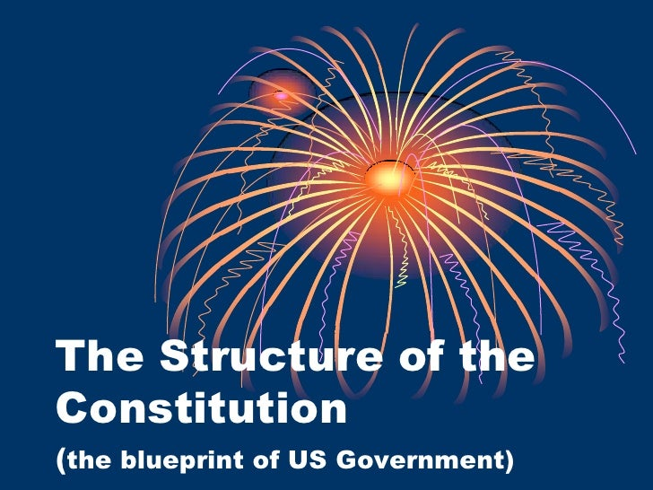 The Structure of the Constitution <br />(the blueprint of US Government)<br />