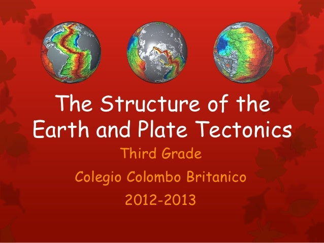 The Structure of theEarth and Plate Tectonics          Third Grade    Colegio Colombo Britanico           2012-2013