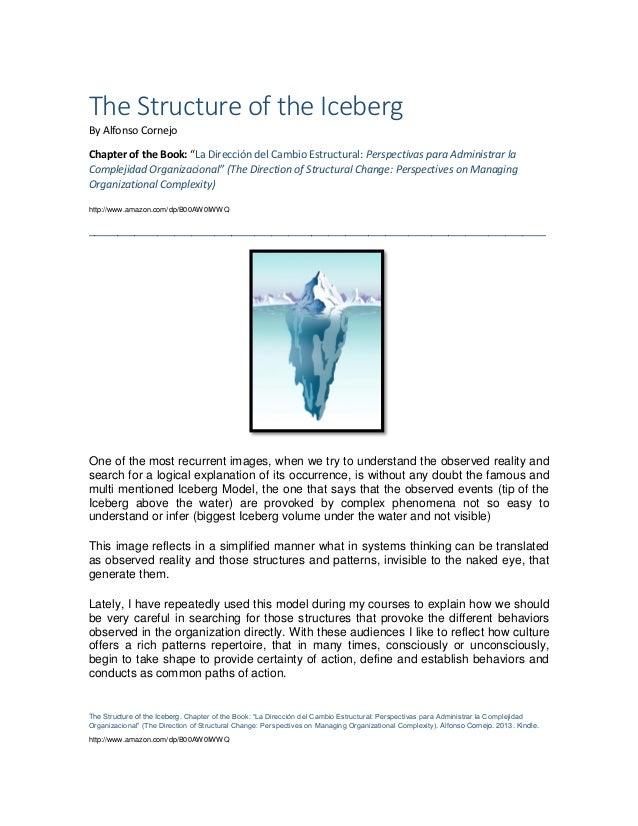 """The Structure of the Iceberg. Chapter of the Book: """"La Dirección del Cambio Estructural: Perspectivas para Administrar la ..."""