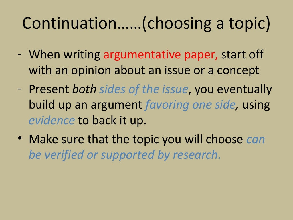 topic for research papers