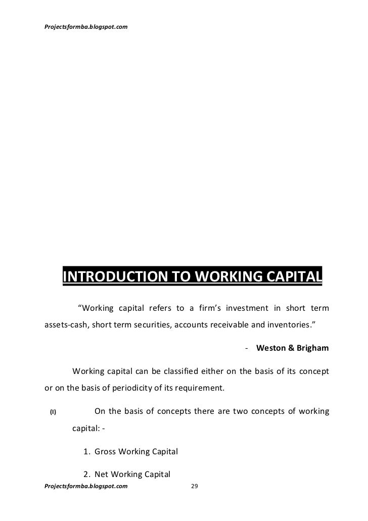 study of working capital management on This preliminary study was made with an attempt to analyze the efficiency of working capital management in the selected small medium enterprise companies in malaysia.